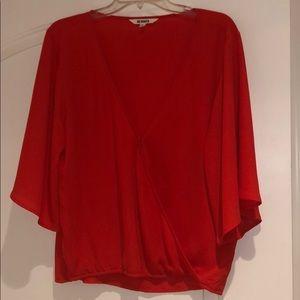 BB Dakota orange blouse size L.